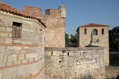 Baba Vida Fortress In Vidin Bulgarien arkivfoto