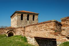 Baba Vida - gammal medeltida fästning i Vidin, i nordvästlig Bulgarien Lopp till Bulgarienbegreppet arkivfoto