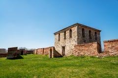 Baba Vida - gammal medeltida fästning i Vidin, i nordvästlig Bulgarien Lopp till Bulgarienbegreppet royaltyfri foto