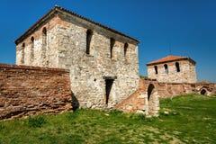 Baba Vida - gammal medeltida fästning i Vidin, i nordvästlig Bulgarien Lopp till Bulgarienbegreppet arkivbild