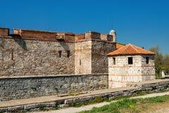 Baba Vida - gammal medeltida fästning i Vidin, i nordvästlig Bulgarien Lopp till Bulgarienbegreppet arkivbilder