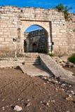 Baba Vida Ruins. Medieval ruins at the Baba Vida fortress in Vidin, Bulgaria Stock Photography