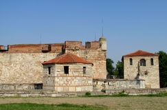 Baba Vida stone fortress in Vidin, Bulgaria on Danube river bank Stock Image