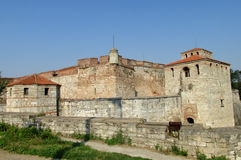 Baba Vida stone fortress in Vidin, Bulgaria on Danube river bank Stock Images