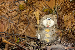 Baba Yaga  in autumn forest thicket Stock Images