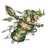 Baba Yaga is een karakter van mythologie, folklore, fee Royalty-vrije Stock Fotografie