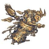 Baba Yaga es un carácter de la mitología, folclore, hada ilustración del vector