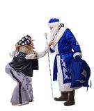 Baba Yaga and Father Christmas Royalty Free Stock Images