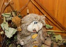 Baba Yaga among herbs Stock Images