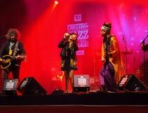 Baba Zula d'Istanbul Turquie de concert photographie stock libre de droits