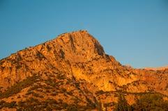 Babadag mountain at sunset Stock Photos