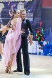 Babadei Andrei and Anpilogova Yana performs Adult Latin-American program Royalty Free Stock Image