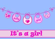 Babador do bebê para a menina Imagem de Stock