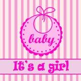 Babador do bebê para a menina Fotografia de Stock
