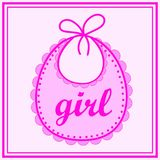 Babador do bebê para a menina Imagens de Stock Royalty Free