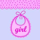 Babador do bebê para a menina ilustração do vetor