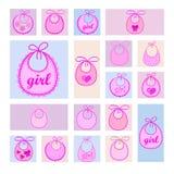 Babador do bebê para a menina ilustração royalty free