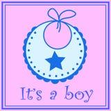 Babador do bebê para o menino Foto de Stock Royalty Free