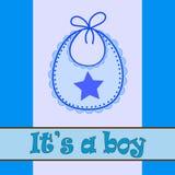 Babador do bebê para o menino Imagens de Stock