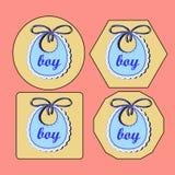 Babador do bebê para o menino ilustração royalty free