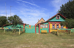 Babaji Ashram in Russian Siberian village Okunevo. Royalty Free Stock Photography
