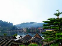 baBan Rak Ταϊλανδός είναι ένα χωριό της κινεζικής τακτοποίησης στην επαρχία Ταϊλάνδη γιων της Mae Hong Στοκ εικόνα με δικαίωμα ελεύθερης χρήσης