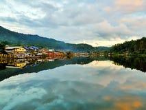 baBan Rak тайское деревня китайского поселения в провинции Mae Hong Son Таиланде стоковое изображение