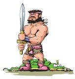Babarian hero Stock Image