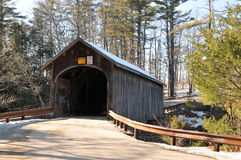Babb Bridge. In Windham, Maine, on a winter day stock photography