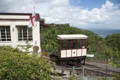 The Babbacombe Cliff Railway at Torquay England UK Royalty Free Stock Images