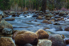 Babbling Brook. Water Cascading Through A Rocky Streambed Stock Images