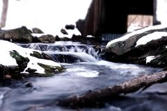 Babbling Brook. In the winter Royalty Free Stock Photography