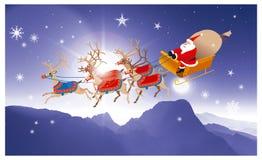 Babbo Natale 2 Santa sulla sua slitta Fotografie Stock Libere da Diritti