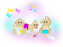 Babby buddies Stock Photo