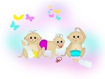 Babby Freunde Stockfoto
