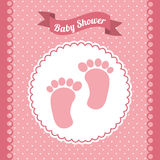 Babby shower design Royalty Free Stock Images