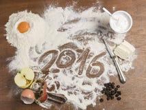 Babci ciasta deska z 2016 podtytułem Fotografia Stock