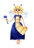 Babci pszczoła ilustracja wektor