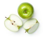 Babci Smith jabłka na bielu Fotografia Royalty Free