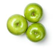 Babci Smith jabłka na bielu Obraz Royalty Free
