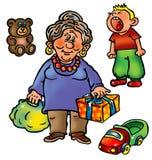 babci wnuka niegrzeczne teraźniejszość Obraz Stock