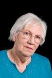 babcia czarny portret Zdjęcia Stock
