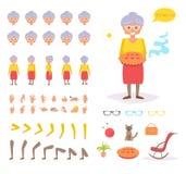 Babcia dla animaci pozy Obraz Stock