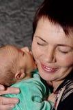 babcia duży buziak obrazy stock