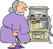 babcia gotowania Zdjęcie Royalty Free