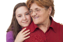 Babcia i wnuczka Obraz Stock