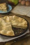 Babcia jabłczany kulebiak Fotografia Royalty Free