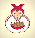 Babcia kulebiaki. Zdjęcia Stock