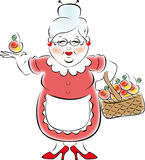 babcia mój royalty ilustracja