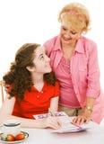 babcia pomocny Obraz Stock